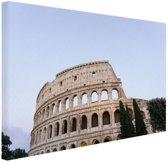 Colosseum Canvas 30x20 cm - klein - Foto print op Canvas schilderij (Wanddecoratie woonkamer / slaapkamer) / Steden Canvas Schilderijen