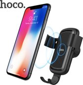 HOCO Draadloze Oplader en Telefoon Houder Luchtrooster Auto Qi Fast Charge (10W)