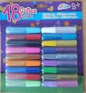 Glitterlijm 18 Kleuren
