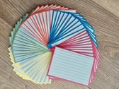 Flashcards / systeemkaarten 250 st. A7 formaat (10,5x7,4cm) flashcards