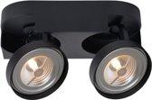 Lucide VERSUM AR111 - Plafondspot - LED Dimb. - AR111 - 2x10W 2700K - Zwart