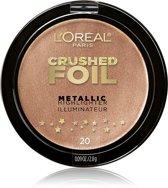 L'Oréal Paris Crushed Foil Metallic Highlighter- 20 Gilded Gold