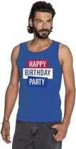 Toppers - Blauw Toppers Happy Birthday party 2019 officieel singlet/ mouwloos shirt heren - Officiele Toppers in concert merchandise S