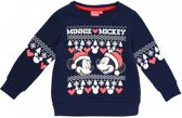 Disney Mickey en Minnie Mouse kerst trui blauw maat 98