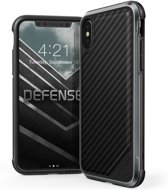 X-Doria Defense Lux cover - zwart carbon fiber - voor iPhone X
