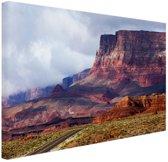 Woestijnlandschap Amerika Canvas 30x20 cm - klein - Foto print op Canvas schilderij (Wanddecoratie woonkamer / slaapkamer)