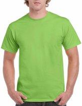 Limegroen katoenen shirt voor volwassenen L (40/52)