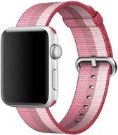 123Watches.nl Nylon bandje - Apple Watch Series 1/2/3/4 (38&40mm) - Berry