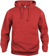 Clique Basic hoody Rood maat S