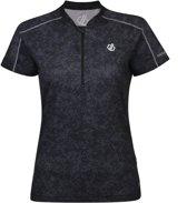 Dare 2b-Theory Jersey-Fietsshirt-Vrouwen-MAAT XS-Zwart