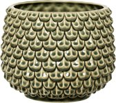 Bloomingville - Bloempot - Handmade Stoneware - Groen