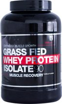 Mount Nutrition Grass Fed Whey Protein Isolate 90 - Inhoud: 2000g / Smaak: Aardbei