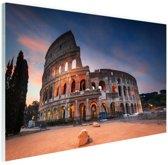Colosseum in de nacht Glas 30x20 cm - Foto print op Glas (Plexiglas wanddecoratie)