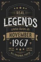 Real Legends were born in November 1967