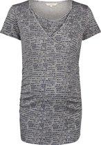 Noppies Zwangerschaps-t-shirt Carmen - Grey Melange - Maat L