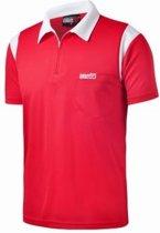 One80 Dartshirt Rood met witte accenten  Per stuk 5XL
