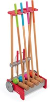 Janod Spel - outdoor - croquet trolley