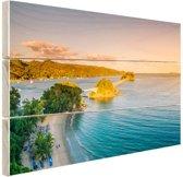 Caraibische brug Hout 60x40 cm - Foto print op Hout (Wanddecoratie)
