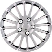 Car Plus Wieldoppen Monza 15 Inch Abs Zilver Set Van 4