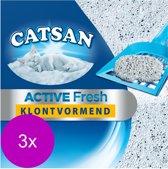 Catsan Active Fresh - Kattenbakvulling - 3 x 8 l