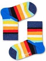 Happy Socks Kids Stripe sokken Blauw, 0-12 mnd, Maat 15/18