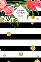 Bold Striped Floral Lined Journal: 100 Page Lined Journal - 6x9 inch
