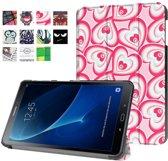 GSMWise - Samsung Galaxy Tab A 10.1 (2016) - Smart Case gemaakt van PU Lederen - Harten Design