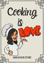 Cooking is LOVE: Blank Recipe Journal to Write in, recipe box, empty recipe Food Cookbook Design, 100-Pages recipe cards 7'' x 10'' Colle