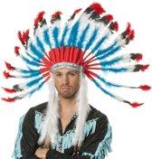 Indianentooi blauw/rood/wit