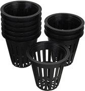 10 Stks 2.2 Inch Plastic Mesh Net Mand Hydrocultuur Aeroponic Bloem Container Groei Pot Planten Mand