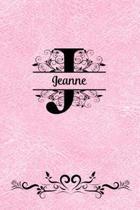 Split Letter Personalized Journal - Jeanne