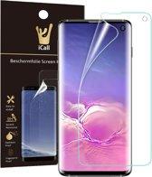 Samsung Galaxy S10 Screenprotector | Glas PET Folie Screen Protector Transparant iCall | Full-Screen