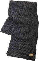 Ivanhoe gebreide sjaal van wol Roa Gr. Marl - One Size 185 x 26 -Zwart