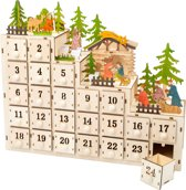 Small Foot Adventskalender Christmas Manger Hout 38 Cm 24-delig