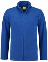 Kobaltblauw fleece vest met rits voor volwassenen 2XL (44/56)