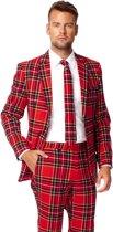 OppoSuits The Lumberjack - Mannen Kostuum - Rood - Kerst - Maat 52