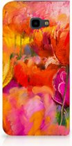 Samsung Galaxy J4 Plus Standcase Hoesje Design Tulips