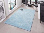 Modern effen vloerkleed Pure - blauw 140x200 cm