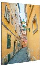 Smalle straat in Wenen Aluminium 40x60 cm - Foto print op Aluminium (metaal wanddecoratie)
