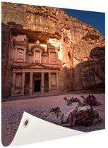 Historische stad Petra in Jordanië Tuinposter 80x120 cm - Tuindoek / Buitencanvas / Schilderijen voor buiten (tuin decoratie)