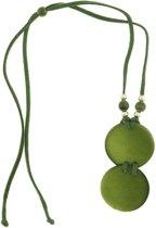 Behave® Dames lange ketting groen met ronde hangers 65 cm