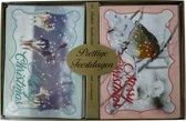 Kerstkaarten met nieuwjaars wens buitenleven (5x10) 50 kaarten