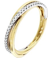 The Jewelry Collection Ring Diamant 0.12 Ct. - Bicolor Goud