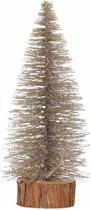 Kerstboompje op stam 25 cm - kerstversiering - brons