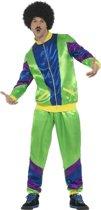 Jaren 80 trainingspak groen voor heren - eighties kostuum 48-50 (M)