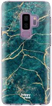 HappyCase Samsung Galaxy S9 Plus Flexibel TPU Hoesje Aqua Marmer print