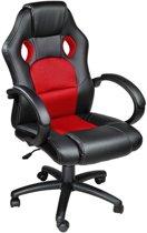 Tectake - Luxe design racing - Bureaustoel - Rood/zwart