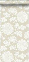 Origin behang bloemen beige - 326147