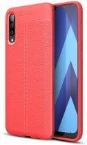 Mobigear Litchi TPU Hoesje Rood Samsung Galaxy A70