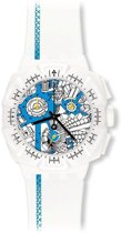 Swatch SUIW412 street map azure  - Horloge - Wit - 45 mm